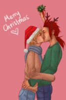 KH: MISTLETOE KISS by Yes-No-Maybe-13
