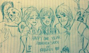 Frozen_Anniversary_Sketch by MnLvK