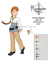 Remnants:Hollee CharacterSheet by Purplefire40