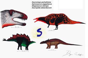 The Dinosaur Alphabet: S by Dennonyx