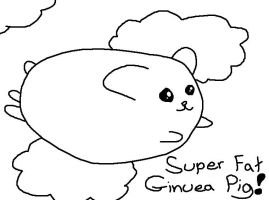 Super Fat Ginuea Pig by crystalkirby