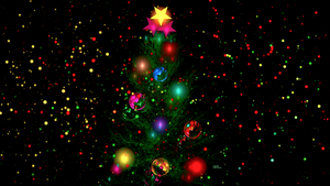 Christmas Tree and Christmas lights by BGai