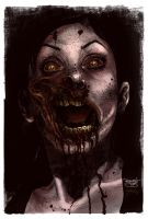 Guedes' Zombie Girl - colors - by gabcontreras
