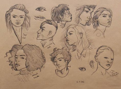 Faces of people by Vixie-Mnsv