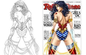Wonder Woman color by jamietyndall