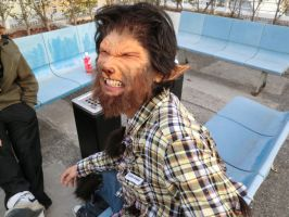 wolfman in a smoking area by Daiquiri-Design