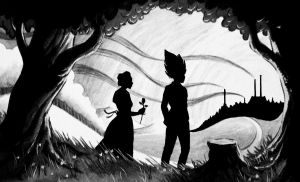 Vegeta and Bulma connecting by Amersss