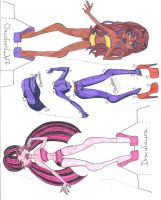 Monster High Paper Doll - Draculaura and Clawdeen by MeganEliMoon