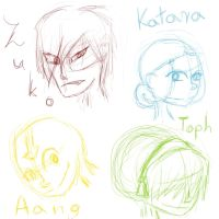 Avatar character sketches by Ardnaksela