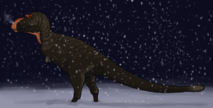 Albertosaurus in the Snow by StygimolochSpinifer