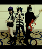 Gorillaz: Trio by bipolar-cosplay