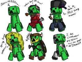 Creeper Evolutions by CommissionMan