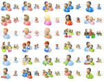 Desktop People Icons by yourmailkept