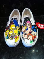 Simpsons V Family Guy Vans by VeryBadThing