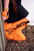 Orange and Black Fluffy by Neon-Coffee
