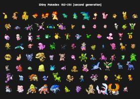 Second generation shiny pokedex by Lendsei