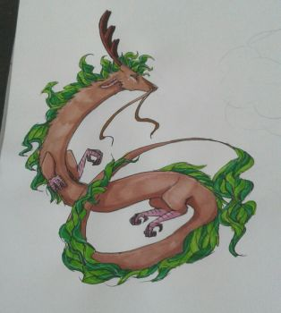 Eastern dragon and alcohol markers practrice by ShamrockBell