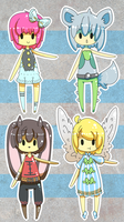 Chibi 'dopts {SET 1} {CLOSED} by Eeyrie
