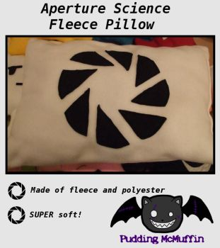 Aperture Science Pillow by PuddingMcMuffin