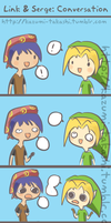 Serge and Link: Conversation by kazumitakashi