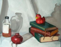 Life Painting Still Life HW2 by umetnica