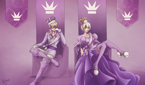[Homestuck] Derse Royalty by naccholen