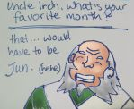 Iroh's Favorite Month by sapphireswimming