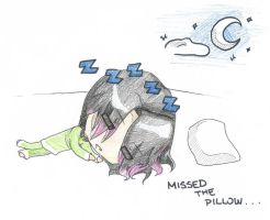 Missed the Pillow by mandel1