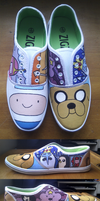Adventure Time Shoes by tofu-lion91