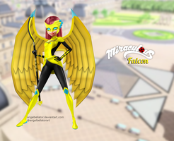 Miraculous Oc - Falcon [COMMISSION] by AngelBellator