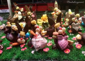 The craziest chocolate bunnies by Cloudwhisperer67