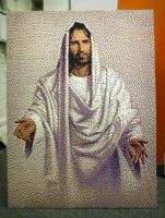 Jesus Bead Portrait by legomov