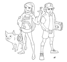 Gravity Falls - Dipper And Mabel by Mono-Phos