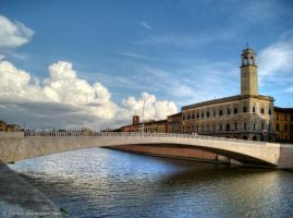 The Bridge on the River Arno by Fabiuss