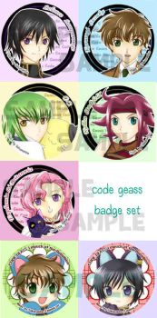 Code Geass : badge set by akai-sakuranbo