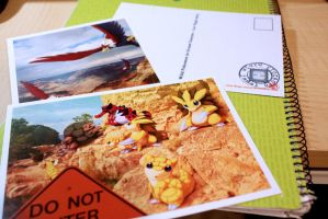 WIld POkemon Postcard: vegas + Grand canyon series by Ninja-Jamal
