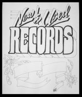 New and Used Records Hand Drawn Sign by JTIllustrations