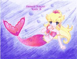 Mermaid Princess Peach 2 by rainingwaffles