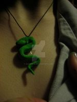 Slythering necklace by Azzuen-B