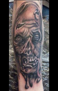 walking dead zombie tattoo by LianjMc