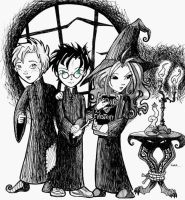 Nightmare before Hogwarts by giz-art