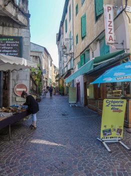 Ariege 055 - Ax-les-Thermes - Street by HermitCrabStock