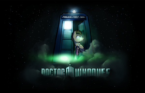 Doctor Whooves and his TARDIS UPDATED by DarkFlame75