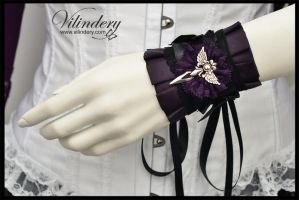 Little Violet Gothic Cuff Bracelet by vilindery