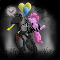 Splendormane and Pinkie Pie 8D by cerynoe
