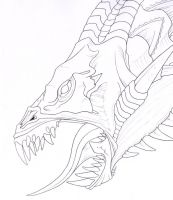 dragonhead-lineart by mythori