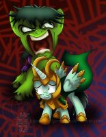 Hulk Smash Puny God Pony by TwoTigerMoon