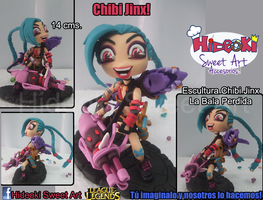 Chibi Sculpture Jinx the loose Cannon LoL by Hideoki