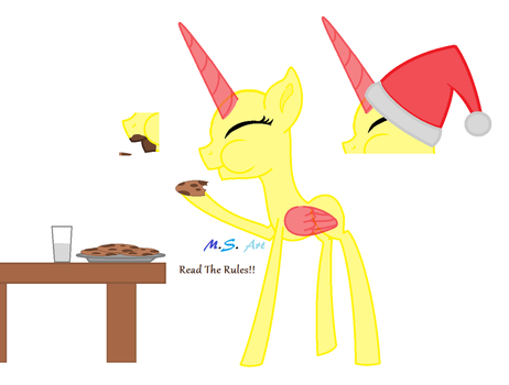 MLP Base 7-Merry Christmas Cookie by MelodyStream