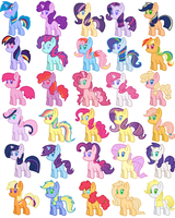 MLP  Shipping Foal Adoptables by Zoiby